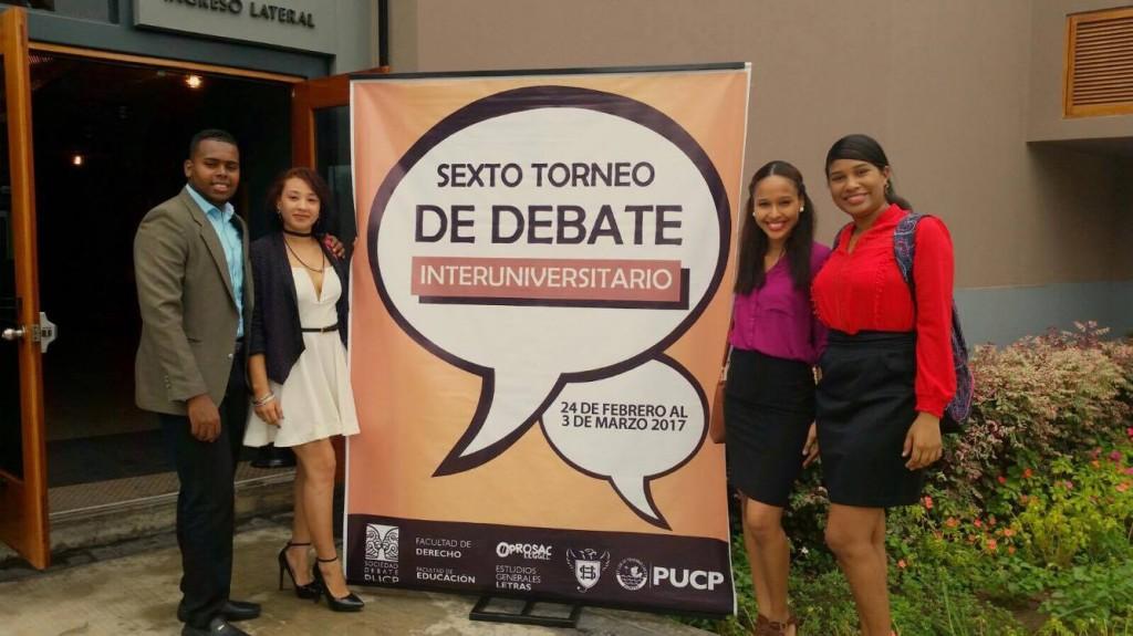 Participación en el Torneo de Debate Interuniversitario ToDi 2017, en Perú.